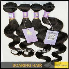 Hot sell 5A brazilian virgin hair weaving extension brazilian remy hair weft weave body wave #1b freeshipping DHL mixed 3pcs lot