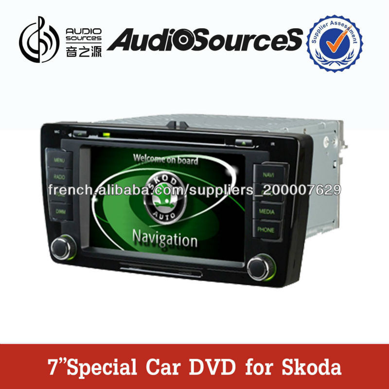 skoda octavia autoradio gps avec cam ra de recul rds dvr. Black Bedroom Furniture Sets. Home Design Ideas