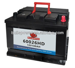 60032 DIN Standard 12v95ah car battery volta batteries