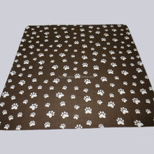 Paw Pattern Polar Fleece Pet Blanket for Dogs and Cats