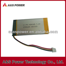 604185 7.4V 2300mAh Recharagebale Li-polymer battery