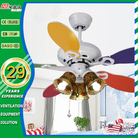 creative hand pull rope children 42 inch decorative home ceiling fan with light