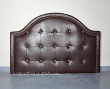 rustic arch microfiber leather queen bed headboard hotel