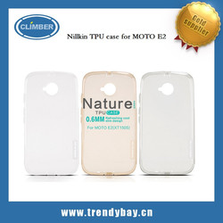 Hot sales Nillkin brand nature TPU case for MOTO E2