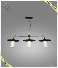 2015 Hot sale modern black glass pendnat lamp/ hganging lighting fuxtures/ indoor hanging lightings