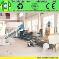 high capacity PE film pelletizing machine| PE PP film granulating recycling plant| plastic recycling machine
