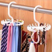 Swiviel tie hanger/small plastic hook/plastic scarf hanger