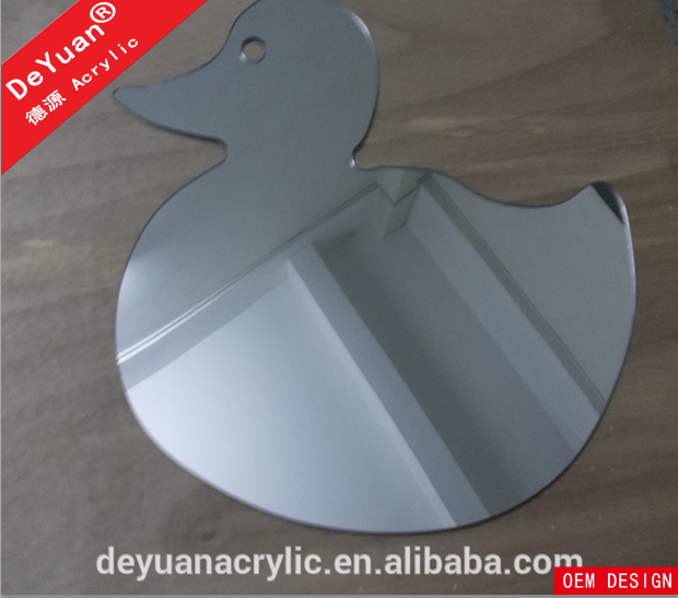 Decorative bathroom wall mirror sheet with customized shape (5).png