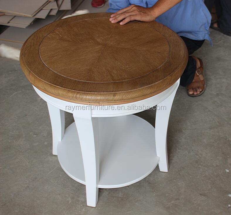 프랑스어 소박한 현대 커피 사이드 테이블 solidwood 사이드 흰색 ...
