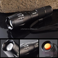 AAA or 18650 Ultrafire E17 1800 Lumens Zoomable XM-L t6 Led Flashlight,Zoom Flashlight,Rechargeable Cycling LED Light