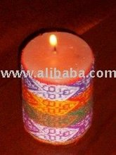 PERUVIAN INCA WRAPPED CANDLE