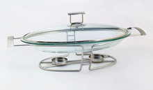 Well Made Colorful Glass Chafing Dish