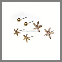 new products elegant Fashion Jewelry sea star earrings sets