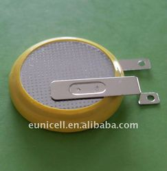 3V CR2025 coin cell Li-ion 3 VOLT Battery with Tabs / pins