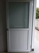 High quanlity blue white 60mm series casement upvc door/pvc plastic door/pvc door profile