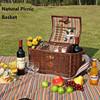L246 Outdoor Willow picnic basket, picnic set, picnic wicker baskets