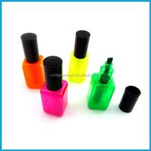 Nail Polish Shaped Highlighter Pen/ Promotion highlighter