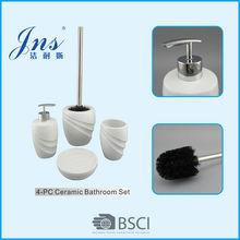 Ceramic white bathroom set