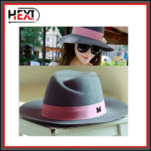 Wholesale Oem 100% wool felt fedora hat for jazz men and women
