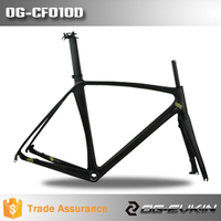 Super light Toray carbon fiber Disc brake road bicycle carbon frame ,hot sale 700C Road Bike BSA 50/52/54/56/58cm size carbon f