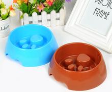 Factory price fancy dog shape cheap PP pet bowl