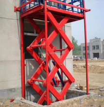 2-12m hydraulic scissor lift elevator guide rail