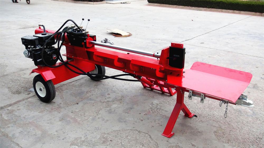 Wood Hydraulic Arm : Hot sale ton gasoline wood log splitter with hydraulic