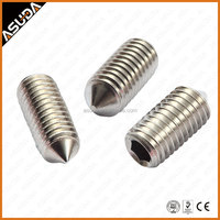 STAINLESS STEEL AND CARBON STEEL DIN914 HEX SOCKET SET SCREW WITH CONE POINT FOR DOR HANDEL
