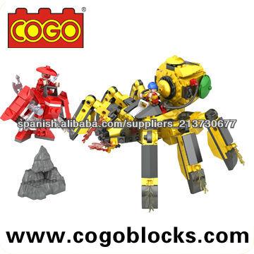 COGO Ninja Serie ladrillos pequeños-araña Guerra 380PCS compatible con ninjago