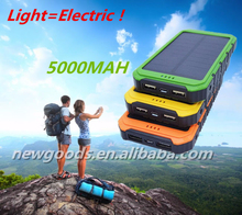 OEM High Capacity 30000mah Dual Usb Portable Solar Panel Power Bank 30000mah Battery Charger With Color Black