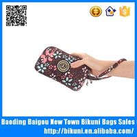 2015 personalized small printing nylon wallets fancy coin purse for ladies