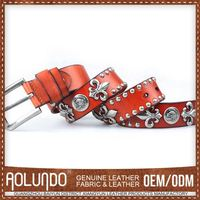 Highest Quality Customized Logo Genuine Leather Sexy Lady Belt Buckle