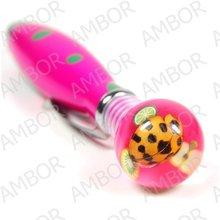 marca nuevo 6 par de color de la pluma de bola con insectos reales incrustado como regalos de navidad