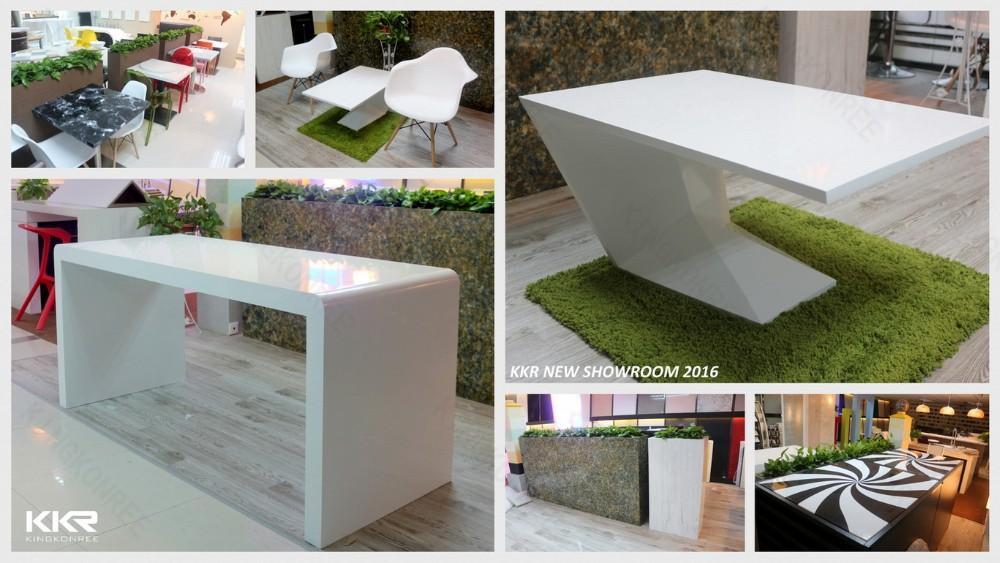 Marmeren top lange smalle keuken tafels met custom logo-eettafels ...