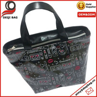 Black Glitter PVC All Around Printing Tote Bag Souvenir Bag