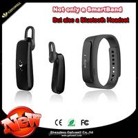 2015 Superior Touch Screen Smart Wristband Bracele Wearable Smartband Bluetooth 4.0 With Earphone