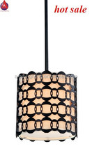 cheapest classic pendant lights outside metal in bronze and inside fabric with glass diffuser MD2163-1A-BZ