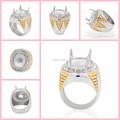 Mucho mayor de moda de acero inoxidable indonesia joyería de los anillos para hombre, anillo de dedo sin piedras