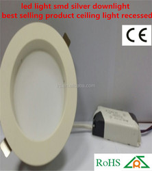 led light smd silver downlight best selling product ceiling light recessed
