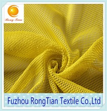 Plain style 100 polyester tricot rhombus mesh fabric for shoes