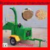 European style diesel engine powered wood chipper machine