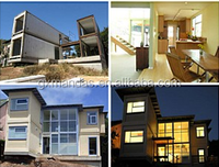 Steel prefabricated residential architecture design houses