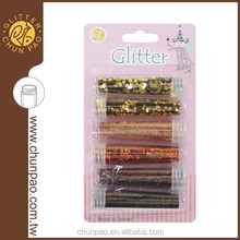Colorful Glitter Powder diy kits for Greeting Cards