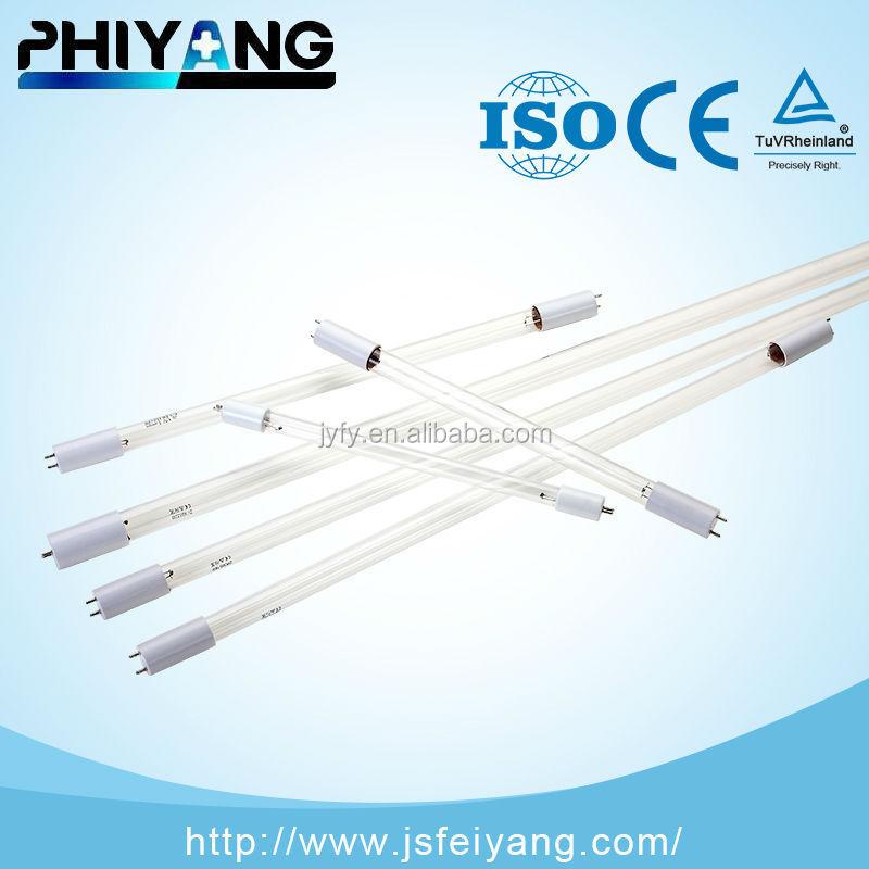15 W iki uç iki pim 254nm ultraviyole antiseptik lamba