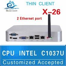 mini pc z3735f personal computers mini desktop X26 dual lan c1037u 2G RAM 32G SSD Support Outdoor Printer,Projector