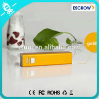Free OEM logo alloy casing new lipstick mobile power bank 2600mah for smartphone