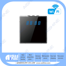 New H.264 HD Night Vision Dual stream wifi alarm clock radio hidden camera