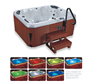 Outdoor 3 people acrylic whirlpool free standing balboa bathtub hot tubs spas bath