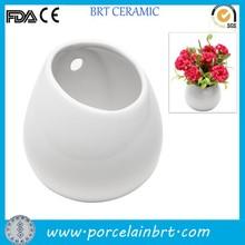 promozione ad alta bianco in ceramica da parete fioriera