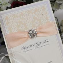 Modern hot sell branded graceful design wedding card